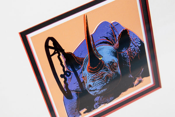 Andy Warhol Black Rhinoceros Endangered Specie Announcement Signed Invitation