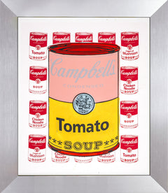Steve Kaufman Campbell Tomato Soup Warhol Famous Assistant Pop Art Oil Painting