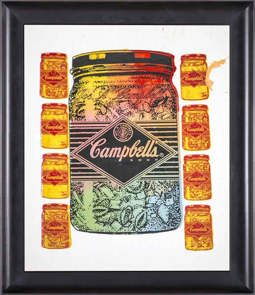 Steve Kaufman Campbells Soup Warhol Famous Assistant Pop Art Oil Painting