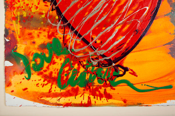 "Massive Hand Painted ""Drawing"" Love Chihuly Glass Pop Art"