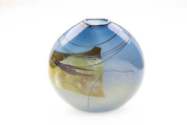 "early hand blown glass vase 79"" fine art Museum Quality Chihuly Mentor"