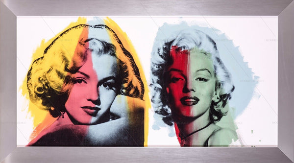 Steve Kaufman Marilyn Monroe Double Original Oil Painting 1/1 Canvas Documeted