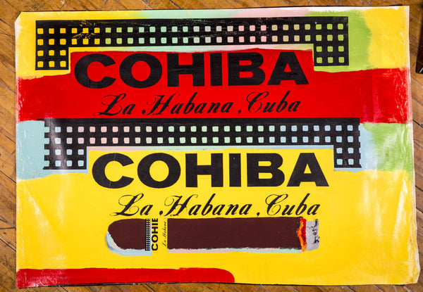 Double Cohiba Warhol Famous Assistant Pop Art Oil Painting Canvas