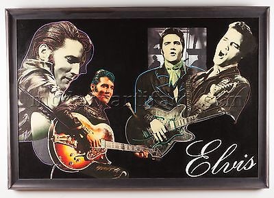 Original Oil Painting Elvis Rock Music Signed Pop Art