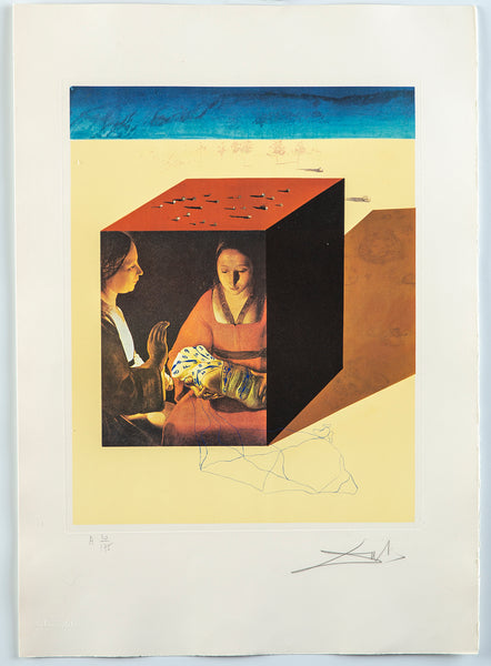 Caring for a Surrealist Watch, LithographContemporary Art Surrealist Lithograph