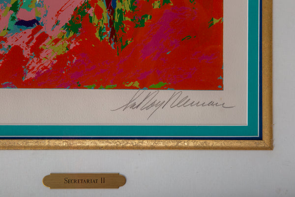 Secretariat II Signed Serigraph Contemporary Art