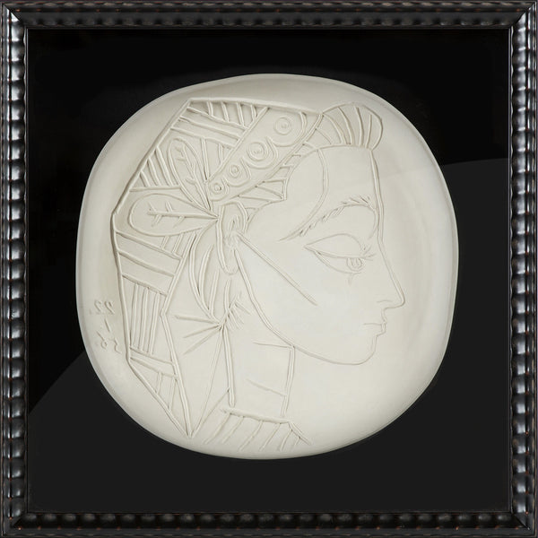 Ceramic Plate Profil de Jacqueline Edition of 100 Extremely Rare