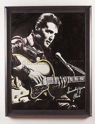 Original Oil Painting of Elvis Rock Music Art Documented