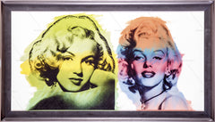 Marilyn Monroe Double Original Oil Painting Canvas Documented