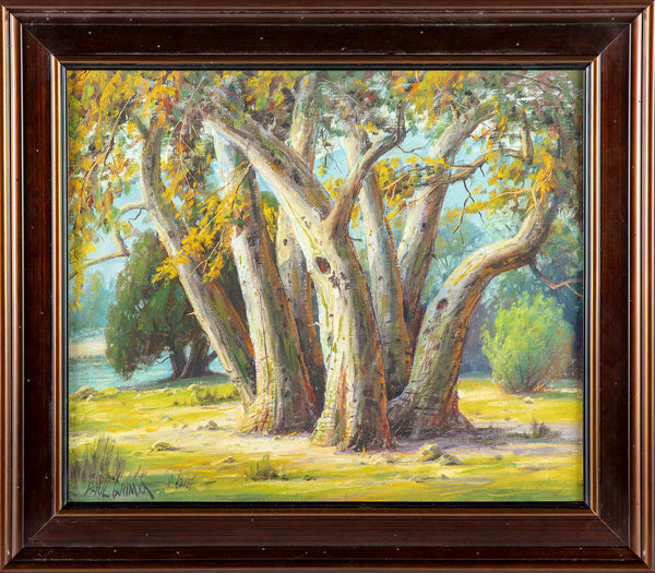 "Original Painting ""Seven Sisters"" Santa Inez Valley Oil on Board Signed Certified"
