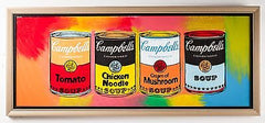 Campbell's Soup Quad Original Oil Painting, Pop Art Kitchen Pantry