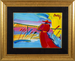 Walking in Reeds Original Acrylic Painting on Lithography Paper