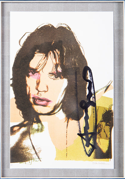 Andy Warhol Mick Jagger FS.II.141 Hand Signed Gallery Announcement Invitation