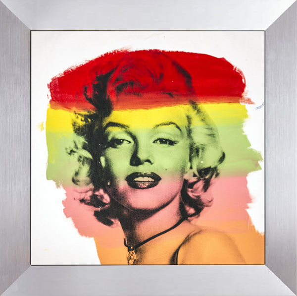 Steve Kaufman Marilyn Monroe Warhol Famous Assistant Oil Painting Canvas 26 x 27