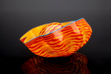 Tiger Lily Seaform Pair Hand Blown Signed Dated Glass Sculpture Rare