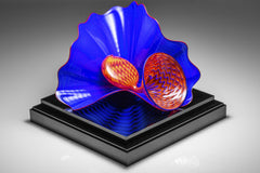 Dale Chihuly Original Lapis Persian Pair Contemporary Glass Art
