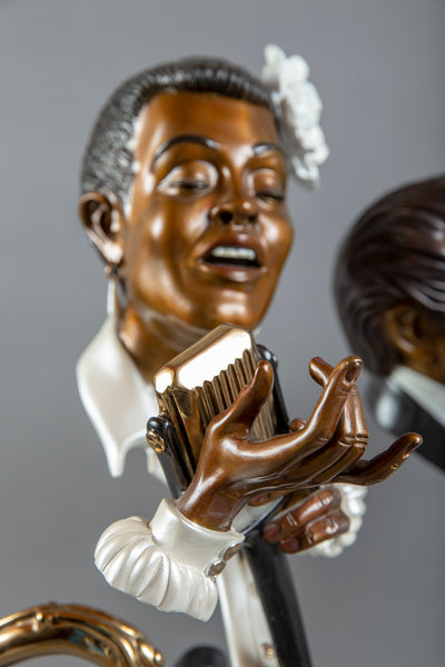 "Lady Day Bronze 30"" Billie Holiday Signed Sculpture Music Blues Jazz 14k retail"