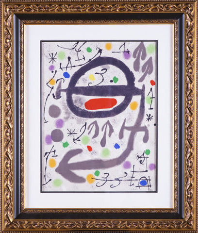 Joan Miro Lithograph Limited Edition, The Perseides III - Mint