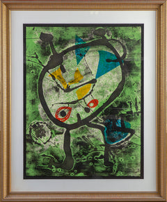Joan Miro Grans Rupestres II Etching Signed Authentic Edition - Contemporary Art
