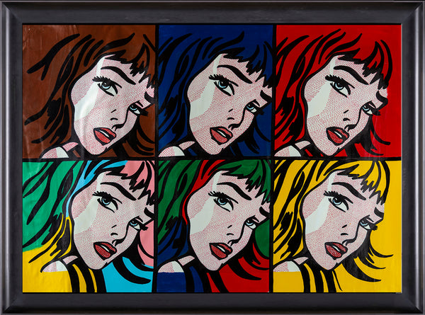 Homage to Lichtenstein 6 Crying Girl Signed Contemporary Art