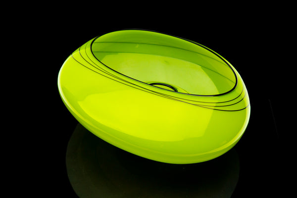 Dale Chihuly Vienna Green Basket Rare, Sold Out Edition