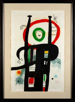 Joan Miro Le Grand Ordinateur Etching - Aquatint and Carborundum Painting Mint