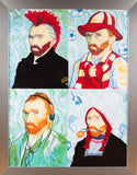 Vincent Van Gogh Original Oil Unique Painting Pop Art Rare Large