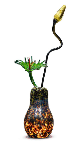 "Massive Illuminated Commissioned Ikebana Hand Blown Glass Sculpture 71"" four piece 100k+"