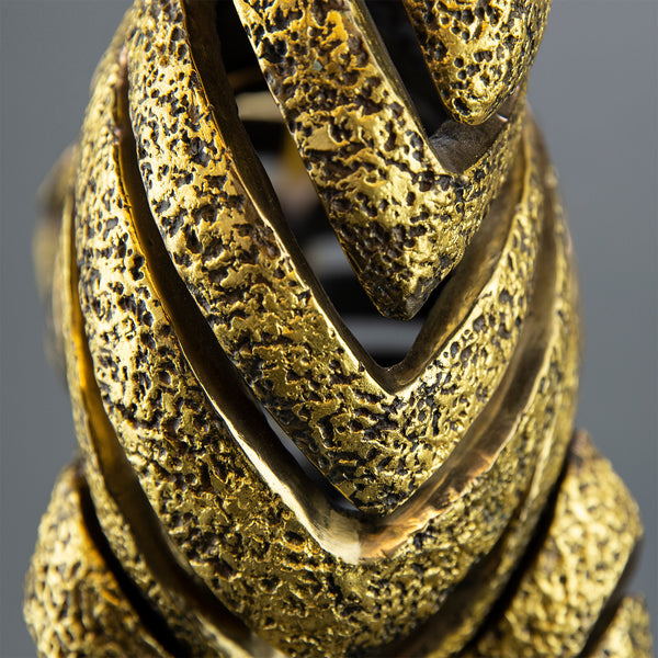 Golden Bronze Zebra Bronze Sculpture, Contemporary Art