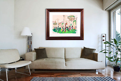 Original Authentic Water Color Painting Hotel Party