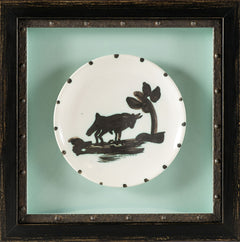 Ceramic Plate Bull Under the Tree Edition 500 1952 Original