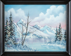 Original Mountain Scene Oil Painting with COA