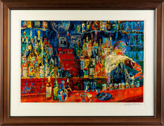 LeRoy Neiman Irish American Bar, Serigraph Contemporary Art