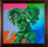 Huge Elephant Pop Art Painting Ganesha — Original Oil Painting