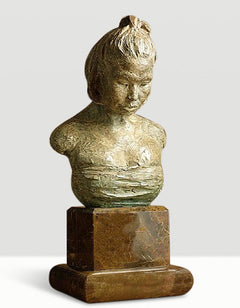 Richard MacDonald Asian Head Study Bronze Sculpture Signed Contemporary Art