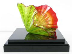 Dale Chihuly Signed Original Chartreuse Persian Handblown Contemporary Glass Art