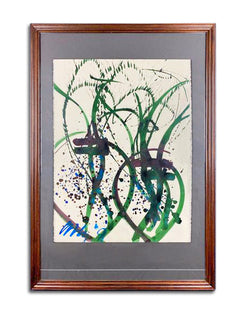 Dale Chihuly Untitled Ikebana Watercolor Drawing Contemporary Art Painting