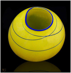 Dale Chihuly Original Citron Basket Contemporary Glass Art