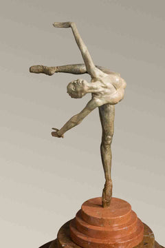 Richard MacDonald Flight in Attitude Bronze Sculpture Signed Contemporary Art