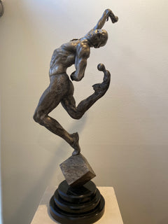Richard MacDonald Leap of Faith 1/3 Life Platinum AP Bronze Sculpture