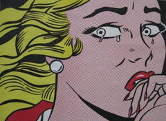 Roy Lichtenstein Crying Girl Color Offset Lithograph Contemporary Art