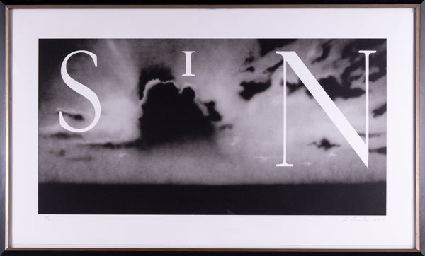 Ed Ruscha Sin-Without Signed Lithograph Contemporary Art