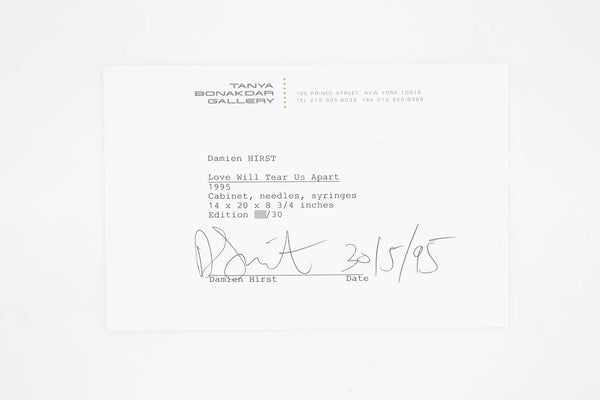 Damien Hirst Love Will Tear Us Apart Signed Contemporary Art