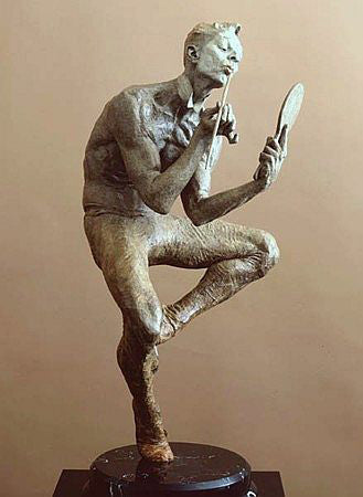 Richard MacDonald Original Showtime Bronze Half Life Contemporary Sculpture Art
