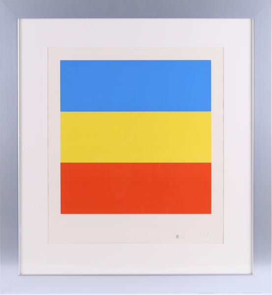 Untitled (Blue, Yellow, Red) Signed, Numbered Screenprint  Art