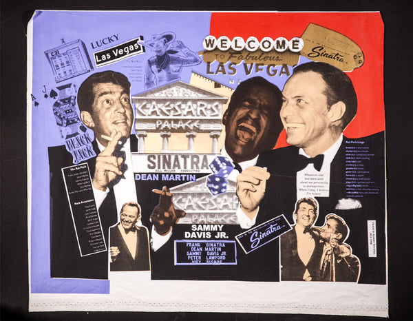 Rat Pack Frank Sinatra Warhol Famous Assistant Oil Painting Canvas