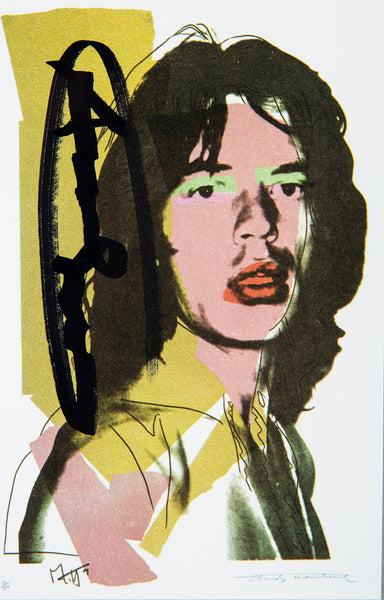 Andy Warhol Mick Jagger FS.II.143 Hand Signed Gallery Announcement Invitation