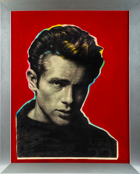 James Dean Rat Pack Vegas Art Original Oil Painting Man Cave