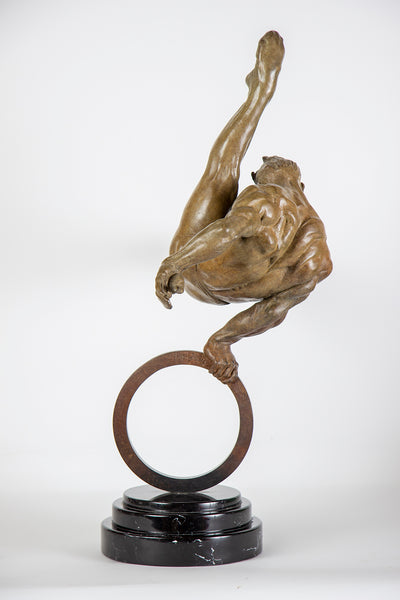 Gymnast Flair 1/3 life Fine Art Sculpture Icon, Best offer