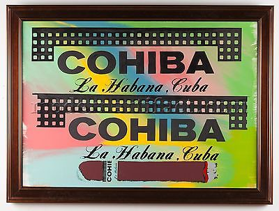 Steve Kaufman Cohiba Cigar Original Oil Painting Man Lady Cave Large Signed